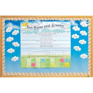 Hopes And Dreams Bulletin Board Kit - 3 banners, 100 clouds