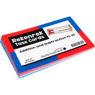 Rekenrek Task Cards - Addition And Subtraction To 20 - 21 cards