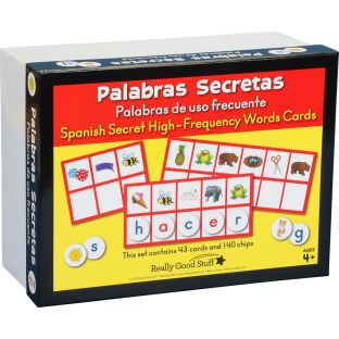 Palabras Secretas: Palabras de uso frecuente (Spanish Secret High-Frequency Words Cards) - 1 game