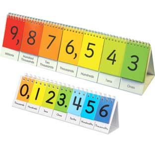 Teacher and Students Place Value Flip Chart Set - Set of 6 and 1 Demonstration