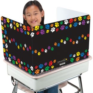 Colorful Paw Prints Privacy Shields™ - High Gloss