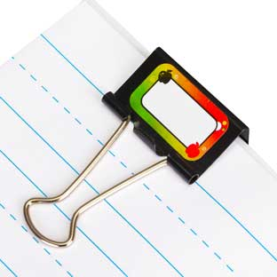 Apple Binder Clip Stickers - 240 stickers