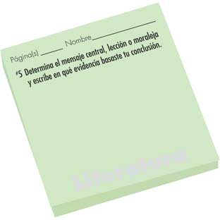Spanish Study Stickies™: Literature Comprehension Questions - 600 sticky notes
