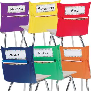 Store More® Group-Color Chair Pockets - Set Of 24