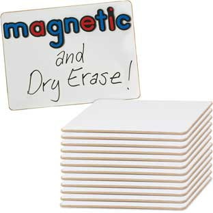 "9"" X 6"" Mini Magnetic Dry Erase Boards - Set Of 12"