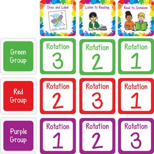 Literacy Stations Pocket Chart Cards - 48 cards