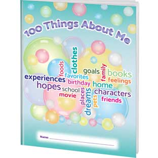 100 Things About Me Writing Journals