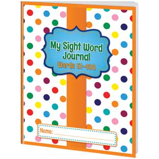 My Sight Word Journals - Words 51-100 - 12 journals