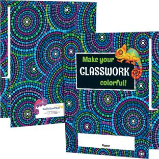 Chameleon Classwork Folders - 12 folders