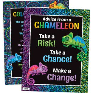 Chameleon Colorful World Poster - 1 poster