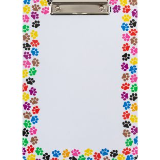 Paw-Print Clipboards - 6 clipboards