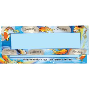 Character Koi Two-Sided Nameplates - 12 nameplates