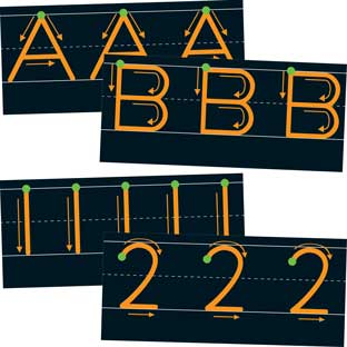 Letter And Number Formation Cards