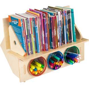 Desktop Bookshelf With Cups