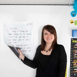 Jumbo Dry Erase Magnetic Notebook Page