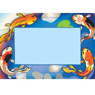 Character Koi Book Pouch Labels - Set Of 12