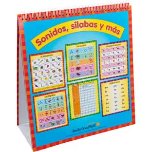 Spanish Sounds, Syllables, And More Flip Chart (Sonidos, sílabas y más) - 1 flip chart