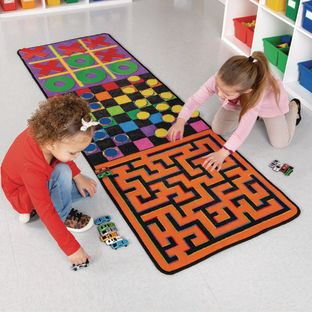 Indoor Recess Rug With Manipulatives - 1 rug, 46 manipulatives