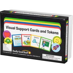 Visual Support Folder And Cards - 1 folder, 85 cards