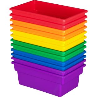 All-Purpose Bins - Set Of 12 - 6 Colors