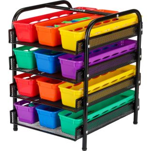 Desktop Supplies Station With Ruler Baskets - 1 tiered organizer, 12 ruler baskets