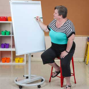 Adjustable Magnetic Dry Erase Easel