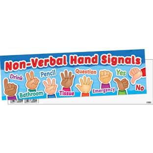 Non Verbal Hand Signals Banner - 1 banner