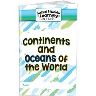 Social Studies Learning Journals  Continents And Oceans Of The World