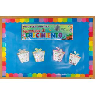 Ready-To-Decorate® Spanish Growth Mindset 3-D Bulletin Board Set (3-D Mentalidad de crecimiento)