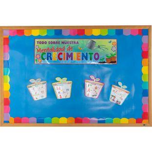 Ready-To-Decorate® Spanish Growth Mindset 3-D Bulletin Board Set (3-D Mentalidad de crecimiento)