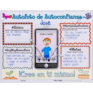 Ready-To-Decorate® Spanish Growth Mindset Proud Of My #SELFIE Posters (#Autofoto de Autoconfianza)