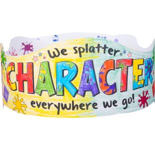 Ready-To-Decorate® Splatter Character Crowns - 12 crowns