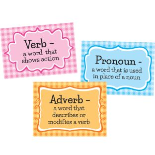 Parts Of Speech Stickers For Highlighters - Intermediate