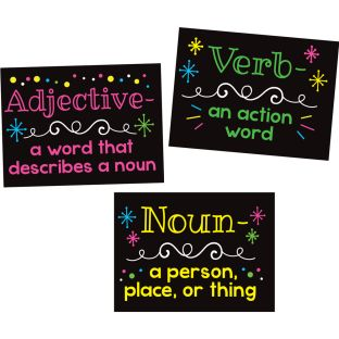 Parts Of Speech Stickers For Highlighters – Primary - 36 stickers