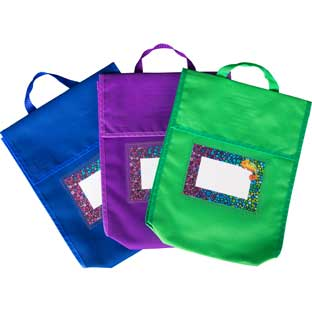 Chameleon Book Pouches And Labels - 12 pouches, 12 labels