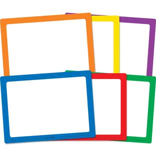 Dry Erase Boards – Set Of 6 – 6 Colors