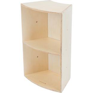 Curved Segment Bookcase - 1 bookcase