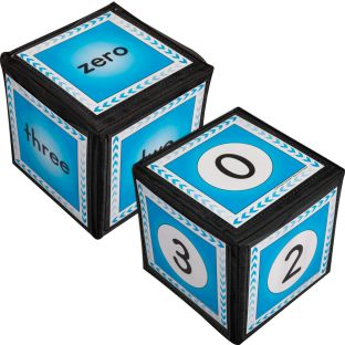"Numbers 0-12 Cards And 6"" Cubes - 2 cubes, 26 cards"