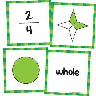 Primary Fractions Cards - 22 cards