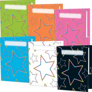 Neon Pop 2-Pocket Folders - Set Of 12 - 6 Colors