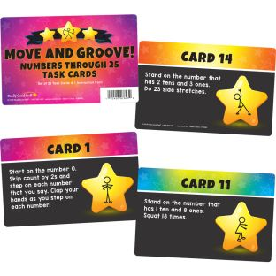 Move And Groove! Numbers Through 25 Task Cards