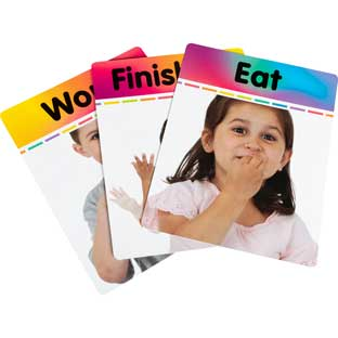 Sign Language Alphabet And Common Phrases Cards - 33 cards