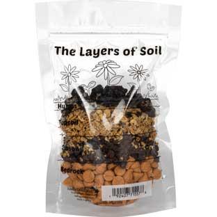 The Layers Of Soil Baggies - 24 plastic bags