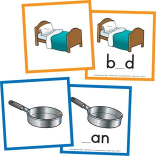 CVC Say And Spell Cards - 60 cards