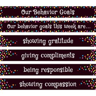 Behavior Focus Pocket Chart Cards - 31 pocket chart cards