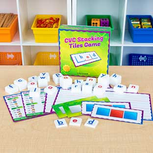 CVC Stacking Tiles Game - 1 game