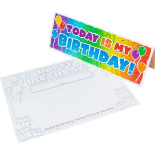Happy Birthday! Desktop Tents - 24 desktop cards/tents