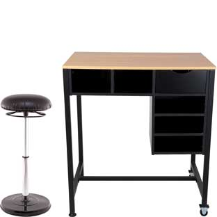 Standing Workstation With Teacher Kore Chair