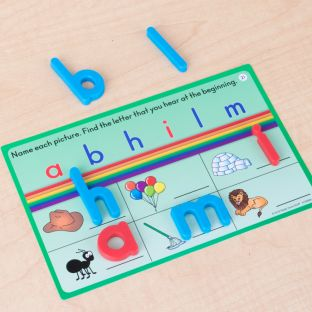 Magnetic Alphabet Arc And Task Cards - 1 multi-item kit