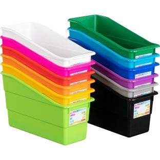 Rainbow Building Blocks Durable Book And Binder Bins